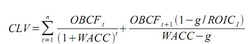 Abbildung 1: Formel zur Berechnung des Customer Lifetime Value