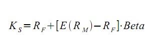 Abbildung 3: Formel Eigenkapitalkosten