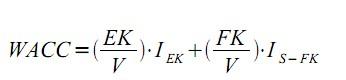 Abbildung 2: Formel gewichtete Kapitalkosten