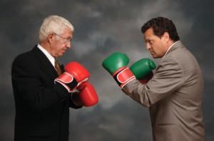 Führungskräfte am Kämpfen
