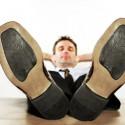 Business-Mann macht Pause