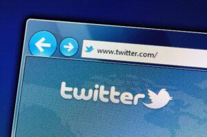Twitter Logo auf Twitter Website