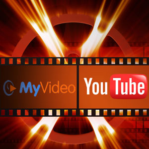 My Video und Youtube Logo in einem Filmband