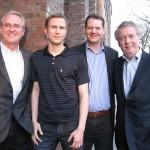 Das Hanse Ventures Management-Team: Dr. Bernd Kundrun, Jochen Maaß, Sarik Weber, Rolf Schmidt-Holtz