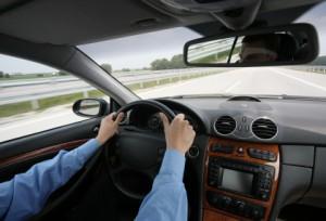 Fahrer auf der Autobahn