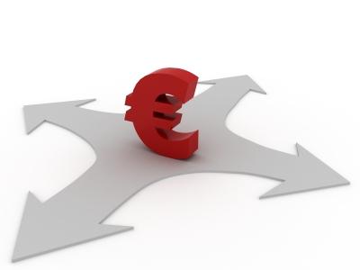 Euro auf einer kreuzung