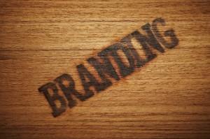 "Holzplatte mit ""Branding"" Brandmark"