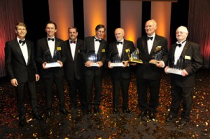 Wolfgang Glauner (Ernst & Young), Robert Stöcklinger und Uwe Heinze (G+R Technology Group AG); Rainer Gläß (GK SOFTWARE AG); Dirk Roßmann (Dirk Rossmann GmbH); Professor Claus Hipp (HIPP Werk Georg Hipp OHG); Hans Riedel (RIEDEL Communications GmbH & Co. KG)