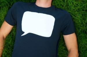 t-shirt mit sprechblasen aufdruck