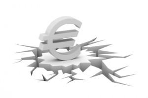 euro auf einstürzendem boden