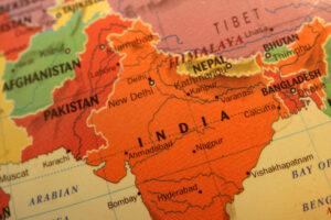 Landkarte mit Indien