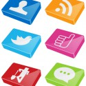 verschiedene social network logos