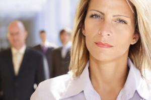 ambitionierte Geschäftsfrau