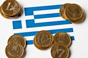 Griechenland mit Euro Stücken