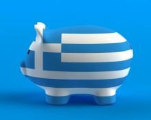 Sparschwein mit Griechenland Flagge