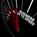 Business Up to Speed - Tacho zeigt Wachstum