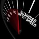 Business Up to Speed - Tacho zeigt Wachstum