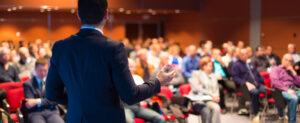 Redner auf Business Konferenz