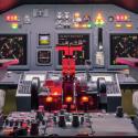 Cockpit eines hausgemachten Flugsimulators