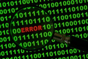 Lupe mit binärem Code