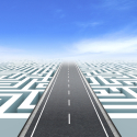 Weg durch ein Labyrinth