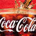 Wandgemälde von einem Glas Coca Cola