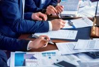 Business Leute mit Büroarbeit