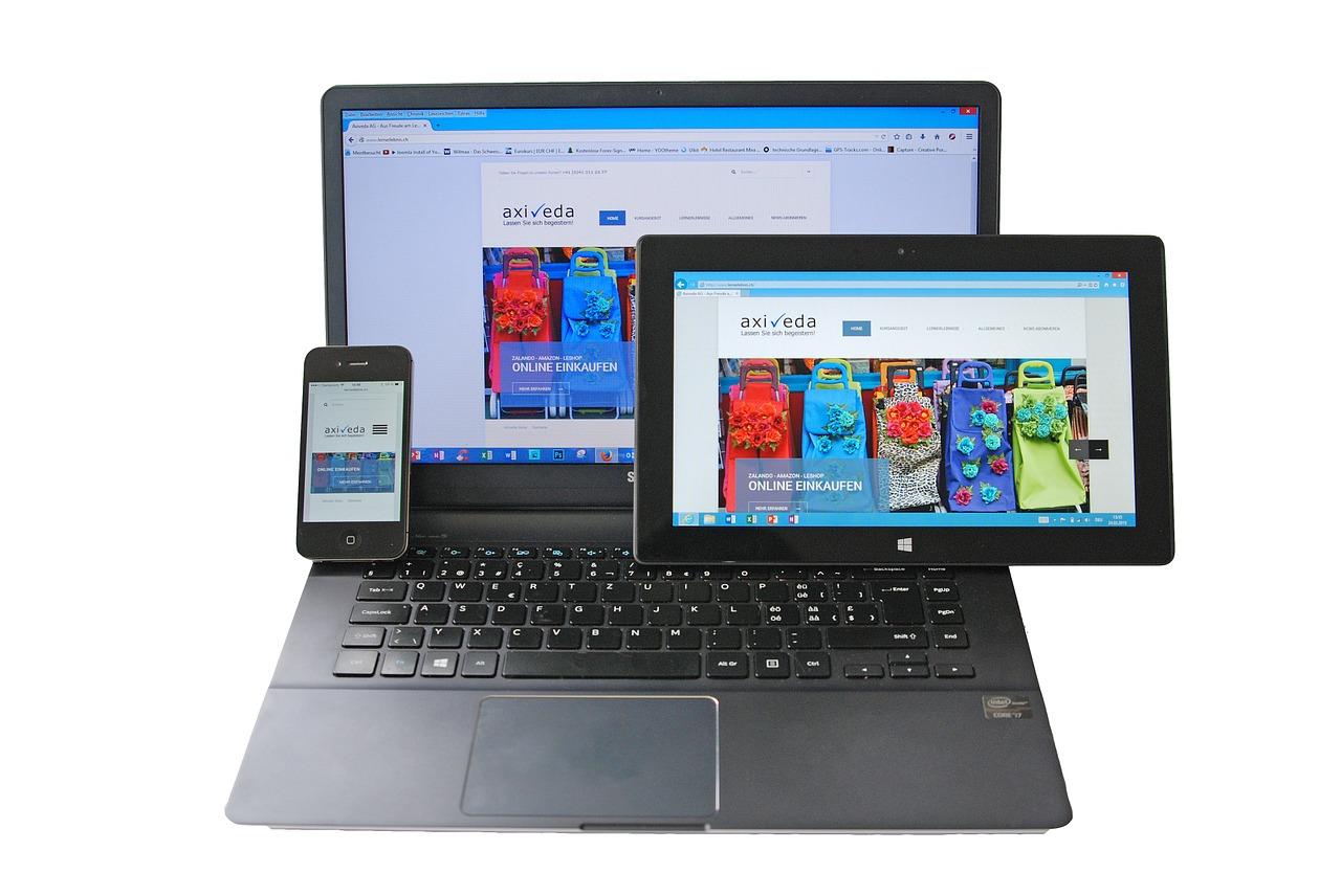 Responsive-Design: Ein Shop sollte für Desktop und Mobile optimiert sein. Bildquelle: pixabay