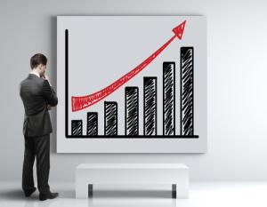 Plakat mit Wachstumstabelle