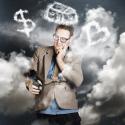Geschäftsmann plant seine Balance zwischen Freizeit und Arbeit