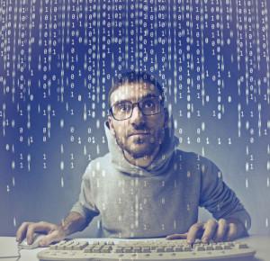 Programmierer vor einem Computer