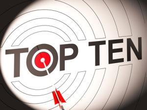 Top-Ten-Ziel zeigt speziell bewertete Unternehmen