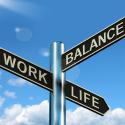 Work Life Balance Straßenschild