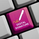 Die elektronischen Signatur dient dazu, unterschriebene Dokumente rechtskräftig werden zu lassen. Bildquelle: 63365382 - Digital Signature online © kebox