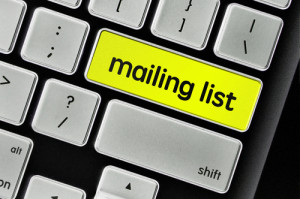 Mailing Liste Tastatur Taste
