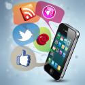 Social Media auf einem Smartphone
