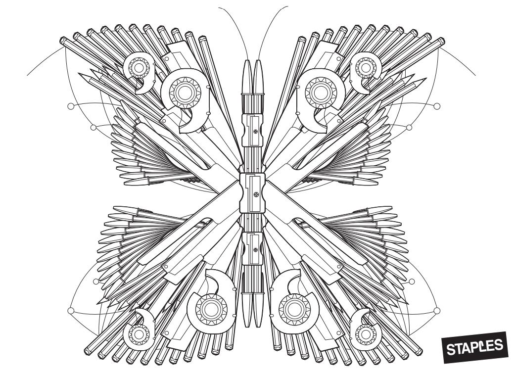 Staples Malmotiv Schmetterling