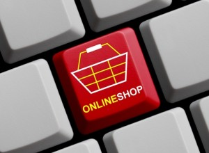 Computer Keyboard with Symbol showing online shop