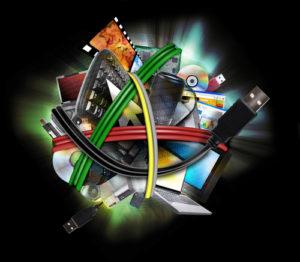 Elektro Kabel und Computer Teile