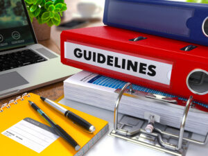 Ordner mit Guidelines