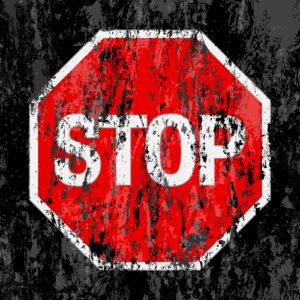 Dreckiges Stopschild