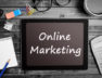 Words Online Marketing on tablet pc