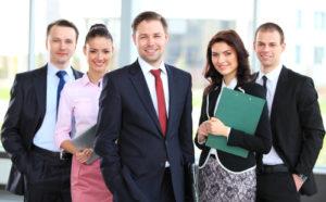 Gruppen Porträt eines Berufsgeschäftsteams