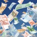 Geld fällt vom Himmel