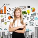 Frau und Geschäftsstrategie