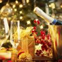 Weihnachten und Neujahr Feier