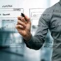 Designer Zeichnung Website-Entwicklung Drahtmodell