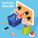 E-Commerce oder Online-Shopping-Konzept
