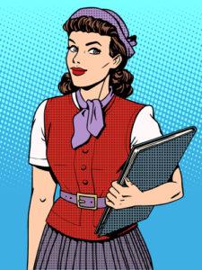 Geschäftsfrau Verkäufer Berater