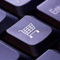 Einkaufswagensymbol auf einer Computertastaturtaste